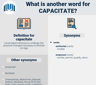 capacitate, synonym capacitate, another word for capacitate, words like capacitate, thesaurus capacitate