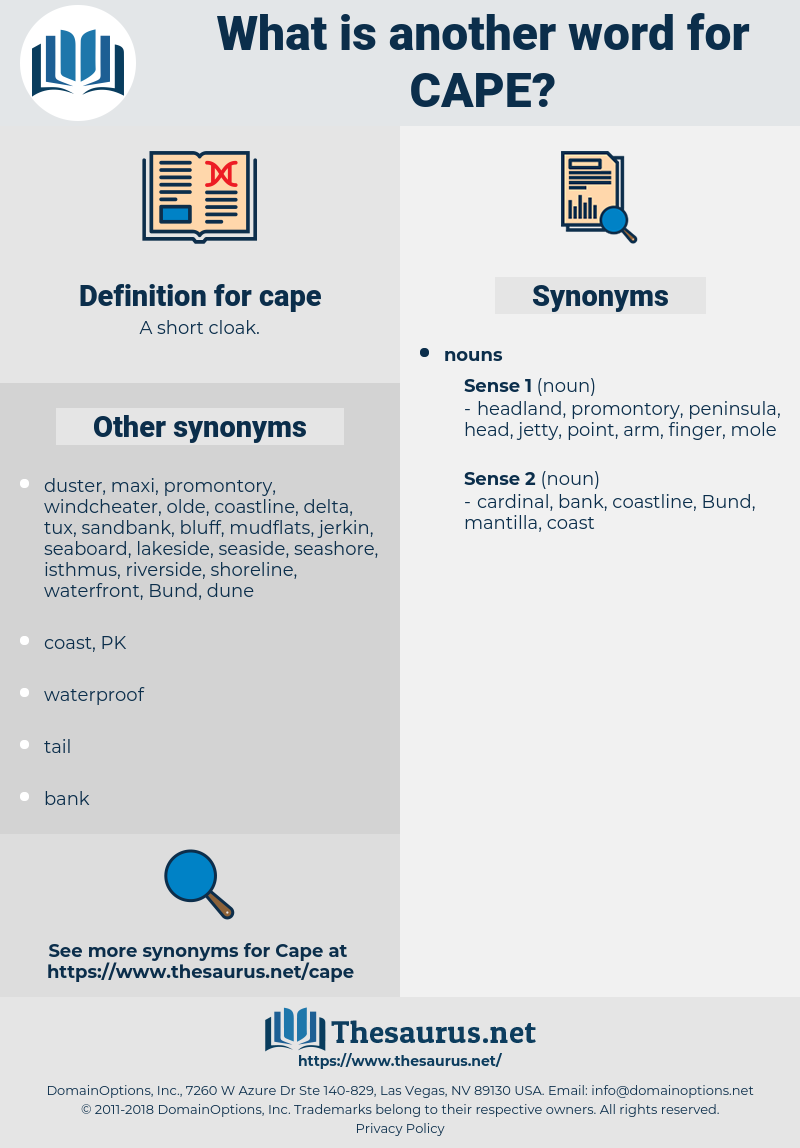 cape, synonym cape, another word for cape, words like cape, thesaurus cape