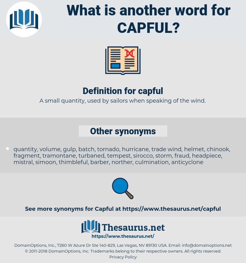 capful, synonym capful, another word for capful, words like capful, thesaurus capful