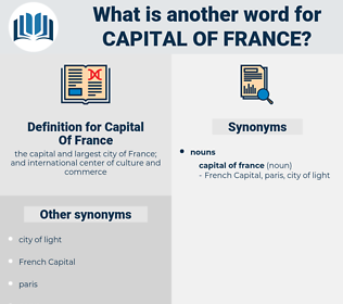 Capital Of France, synonym Capital Of France, another word for Capital Of France, words like Capital Of France, thesaurus Capital Of France