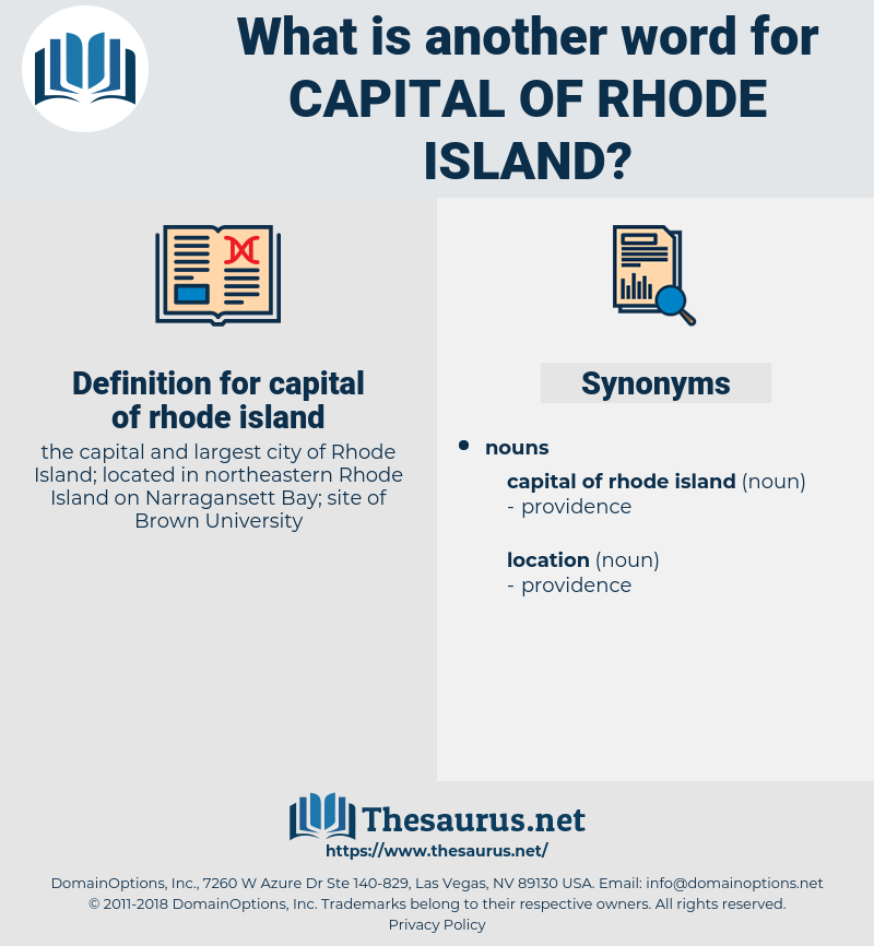 capital of rhode island, synonym capital of rhode island, another word for capital of rhode island, words like capital of rhode island, thesaurus capital of rhode island