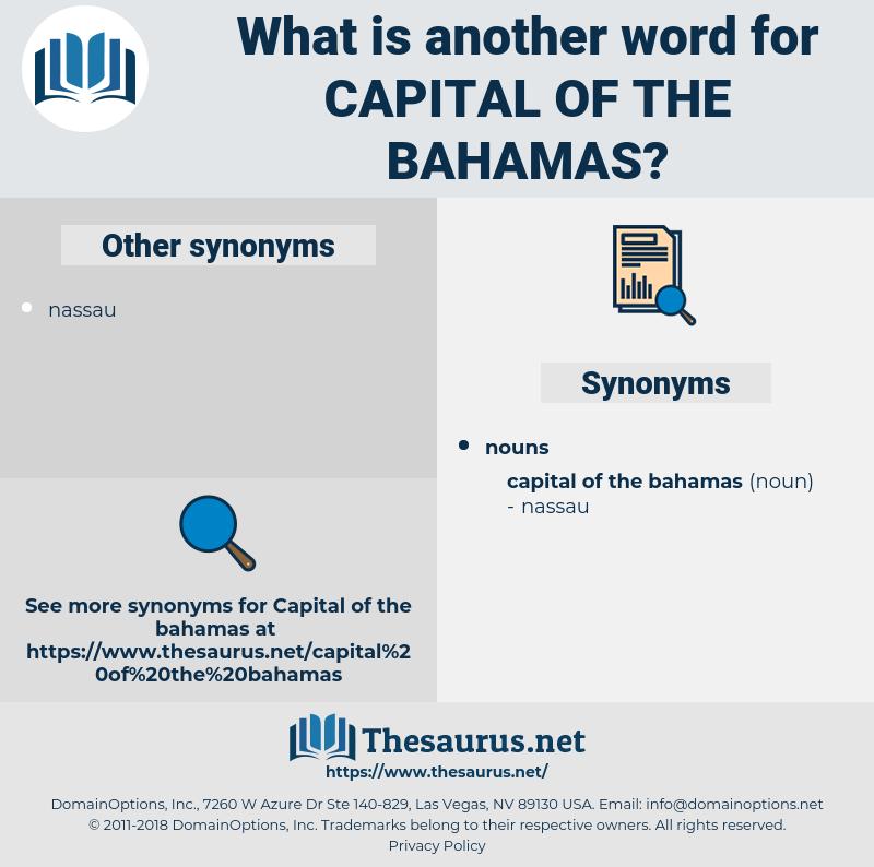 Capital Of The bahamas, synonym Capital Of The bahamas, another word for Capital Of The bahamas, words like Capital Of The bahamas, thesaurus Capital Of The bahamas