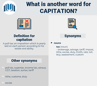 capitation, synonym capitation, another word for capitation, words like capitation, thesaurus capitation