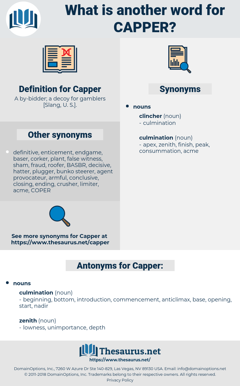 Capper, synonym Capper, another word for Capper, words like Capper, thesaurus Capper