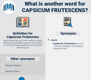 Capsicum Frutescens, synonym Capsicum Frutescens, another word for Capsicum Frutescens, words like Capsicum Frutescens, thesaurus Capsicum Frutescens