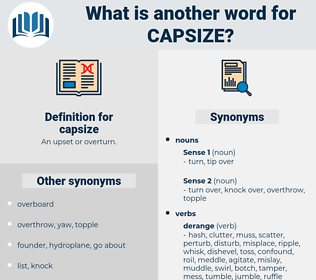 capsize, synonym capsize, another word for capsize, words like capsize, thesaurus capsize