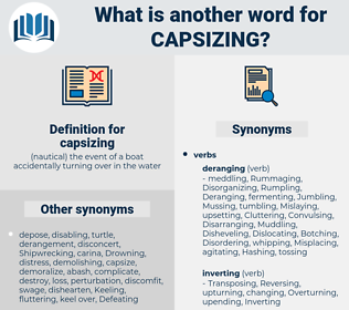 capsizing, synonym capsizing, another word for capsizing, words like capsizing, thesaurus capsizing