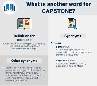 capstone, synonym capstone, another word for capstone, words like capstone, thesaurus capstone