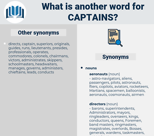 captains, synonym captains, another word for captains, words like captains, thesaurus captains