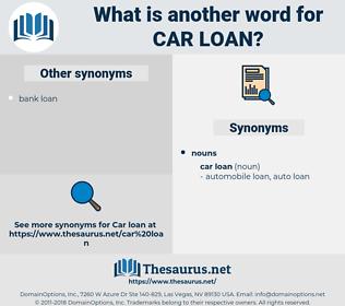 car loan, synonym car loan, another word for car loan, words like car loan, thesaurus car loan