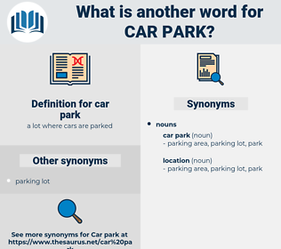 car park, synonym car park, another word for car park, words like car park, thesaurus car park