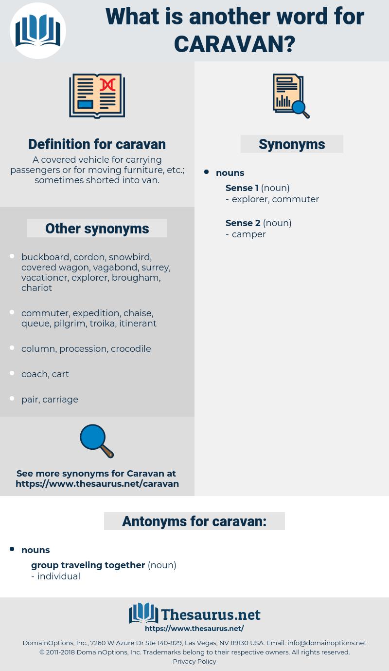 caravan, synonym caravan, another word for caravan, words like caravan, thesaurus caravan