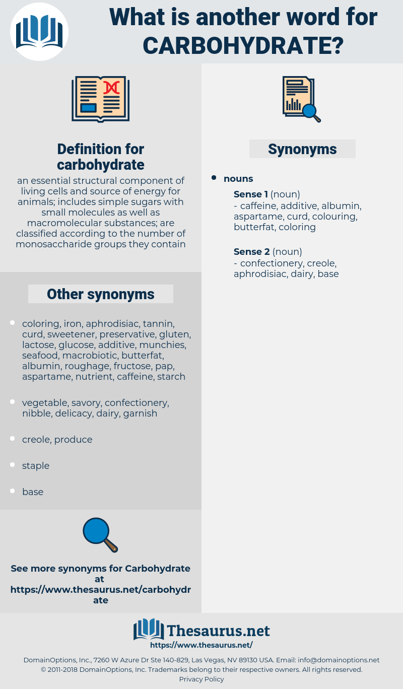 carbohydrate, synonym carbohydrate, another word for carbohydrate, words like carbohydrate, thesaurus carbohydrate