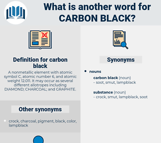 carbon black, synonym carbon black, another word for carbon black, words like carbon black, thesaurus carbon black