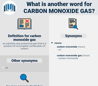 carbon monoxide gas, synonym carbon monoxide gas, another word for carbon monoxide gas, words like carbon monoxide gas, thesaurus carbon monoxide gas