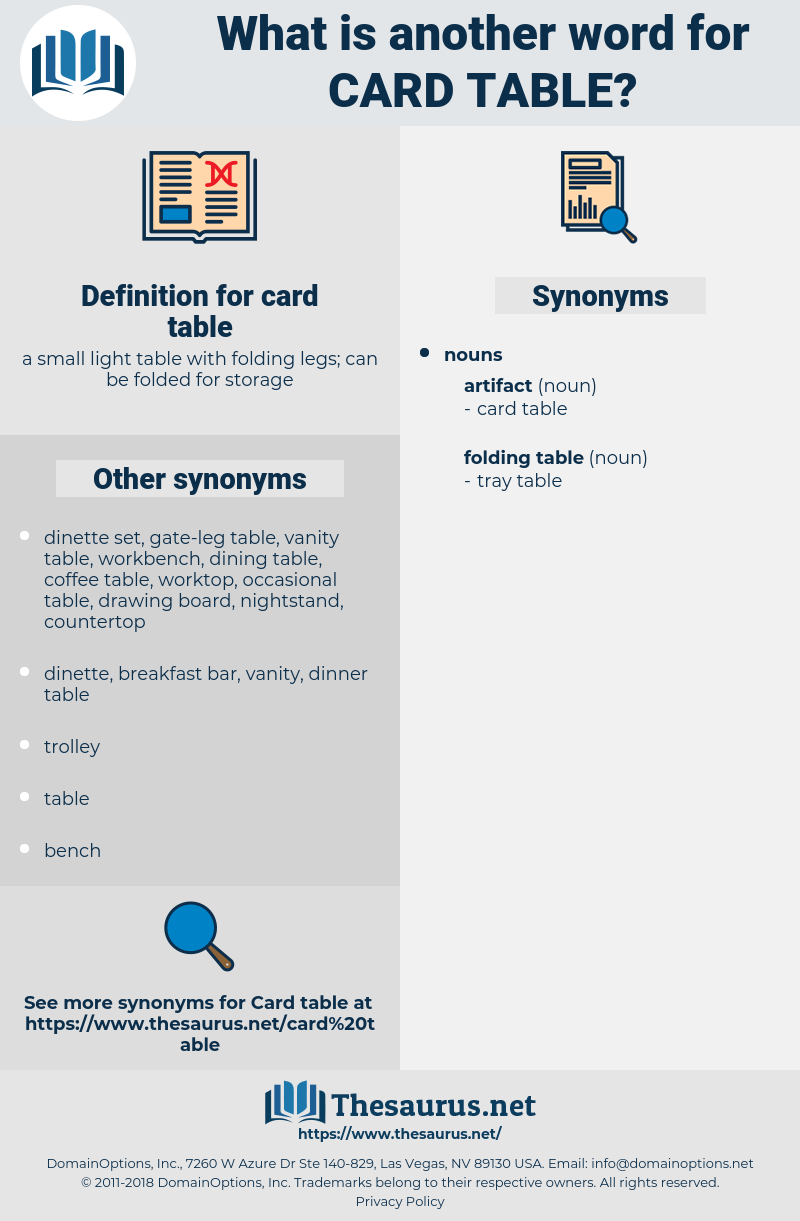 card table, synonym card table, another word for card table, words like card table, thesaurus card table