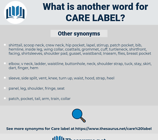 care label, synonym care label, another word for care label, words like care label, thesaurus care label
