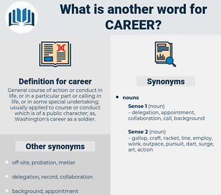 career, synonym career, another word for career, words like career, thesaurus career
