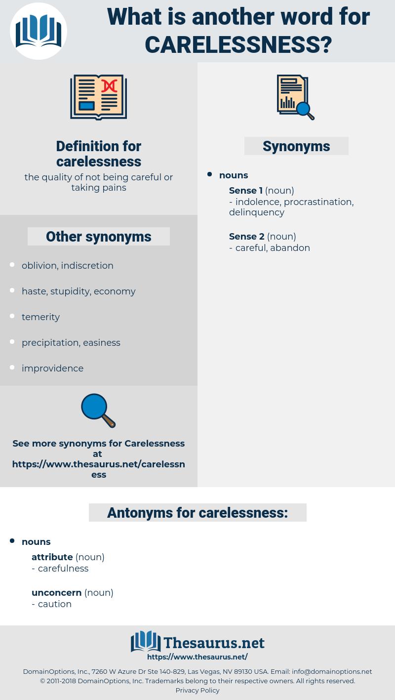 carelessness, synonym carelessness, another word for carelessness, words like carelessness, thesaurus carelessness