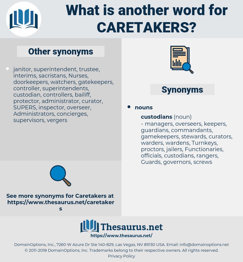caretakers, synonym caretakers, another word for caretakers, words like caretakers, thesaurus caretakers