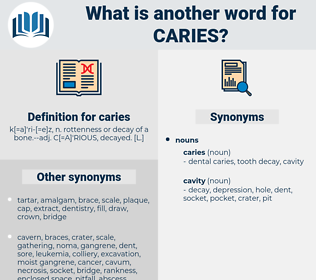caries, synonym caries, another word for caries, words like caries, thesaurus caries