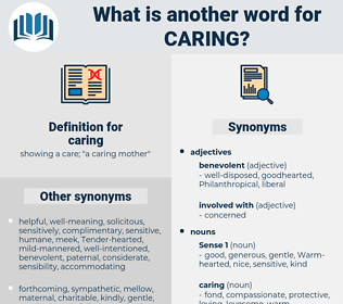 caring, synonym caring, another word for caring, words like caring, thesaurus caring