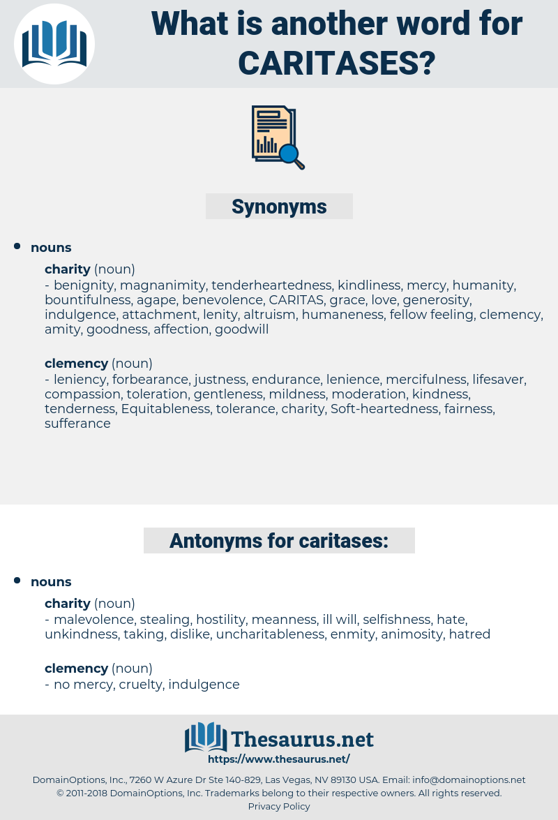 caritases, synonym caritases, another word for caritases, words like caritases, thesaurus caritases