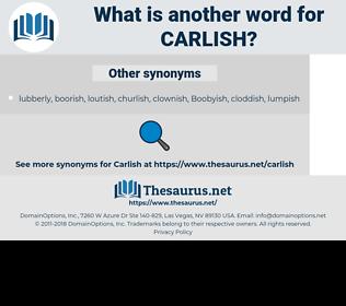 carlish, synonym carlish, another word for carlish, words like carlish, thesaurus carlish