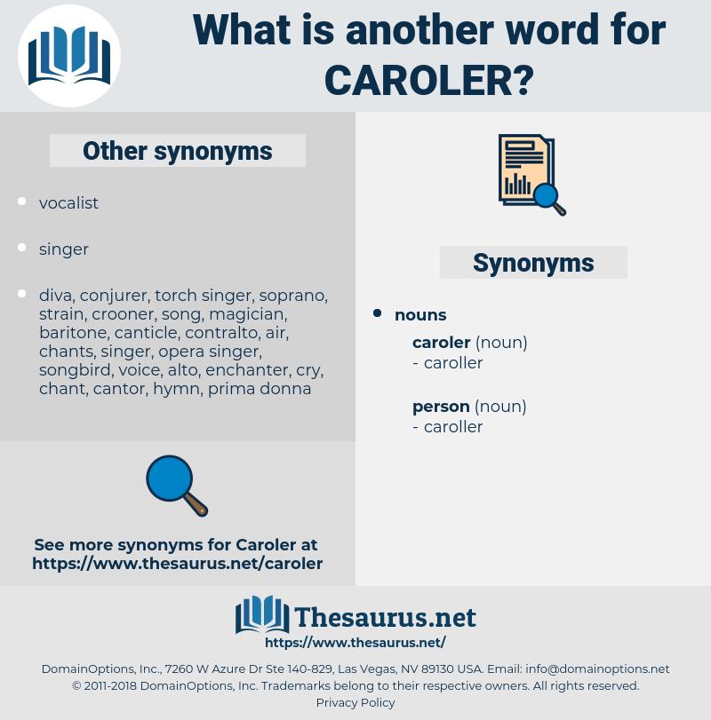 caroler, synonym caroler, another word for caroler, words like caroler, thesaurus caroler