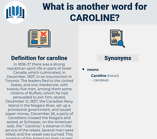 caroline, synonym caroline, another word for caroline, words like caroline, thesaurus caroline