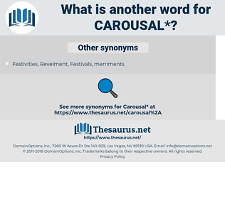 carousal, synonym carousal, another word for carousal, words like carousal, thesaurus carousal