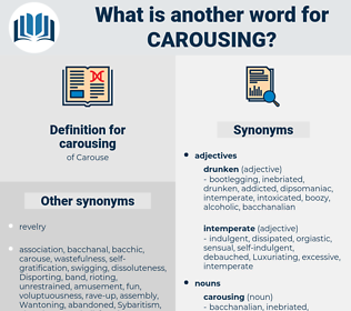 carousing, synonym carousing, another word for carousing, words like carousing, thesaurus carousing