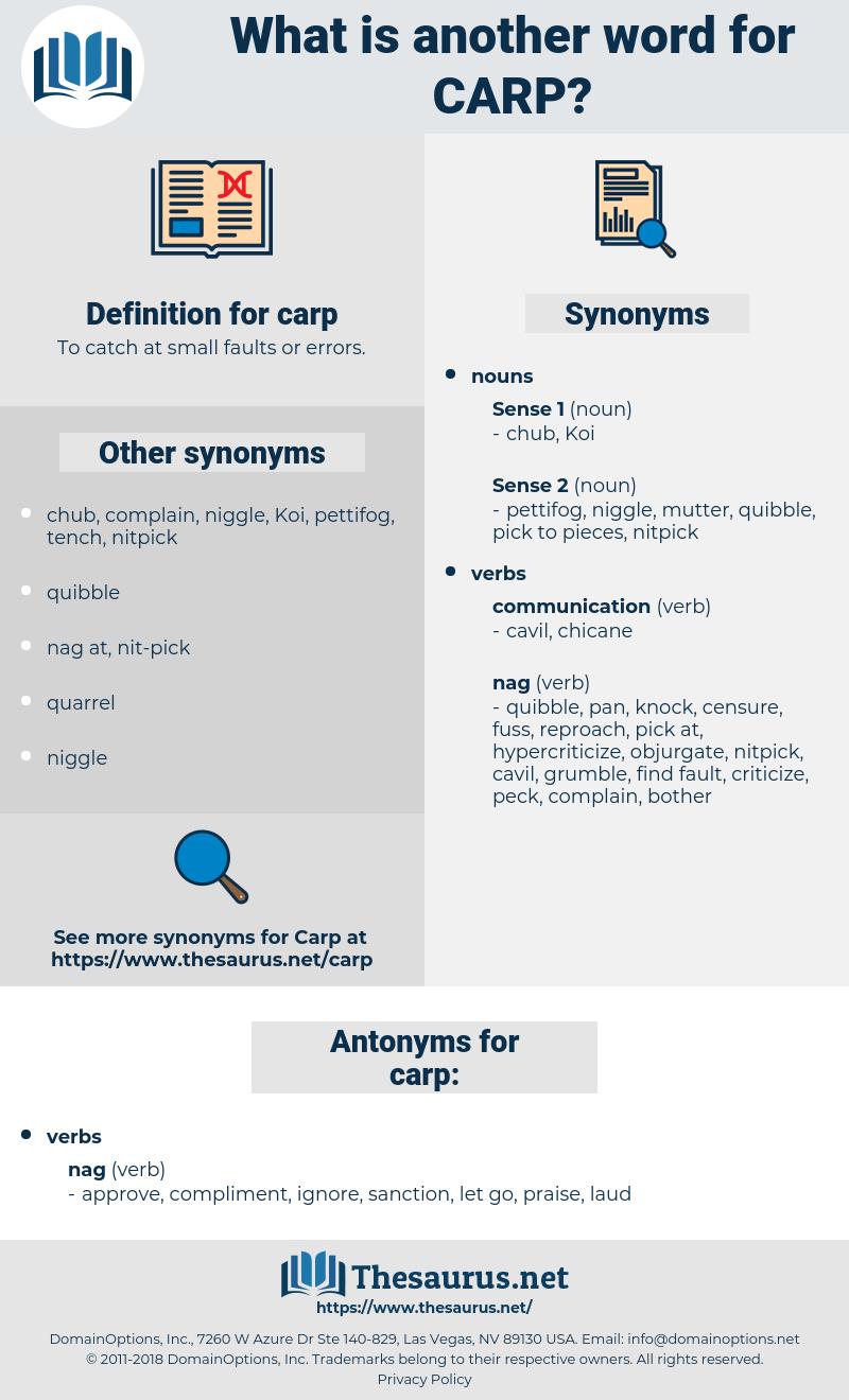 carp, synonym carp, another word for carp, words like carp, thesaurus carp