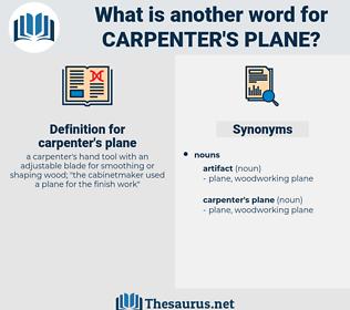 carpenter's plane, synonym carpenter's plane, another word for carpenter's plane, words like carpenter's plane, thesaurus carpenter's plane