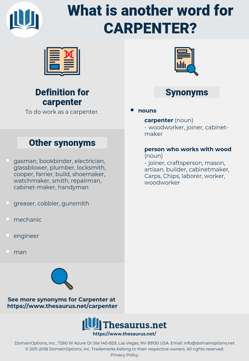 carpenter, synonym carpenter, another word for carpenter, words like carpenter, thesaurus carpenter