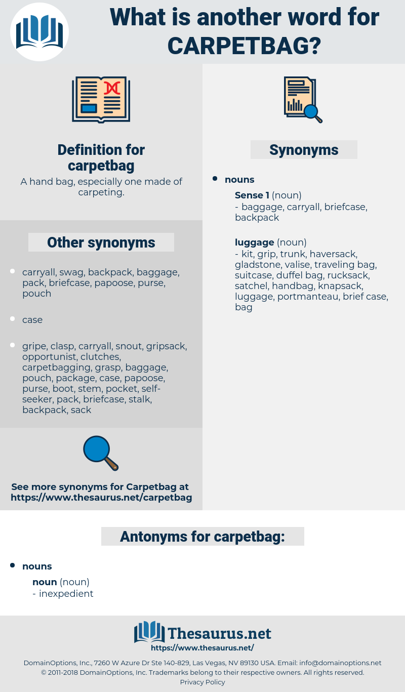 carpetbag, synonym carpetbag, another word for carpetbag, words like carpetbag, thesaurus carpetbag