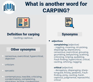 carping, synonym carping, another word for carping, words like carping, thesaurus carping