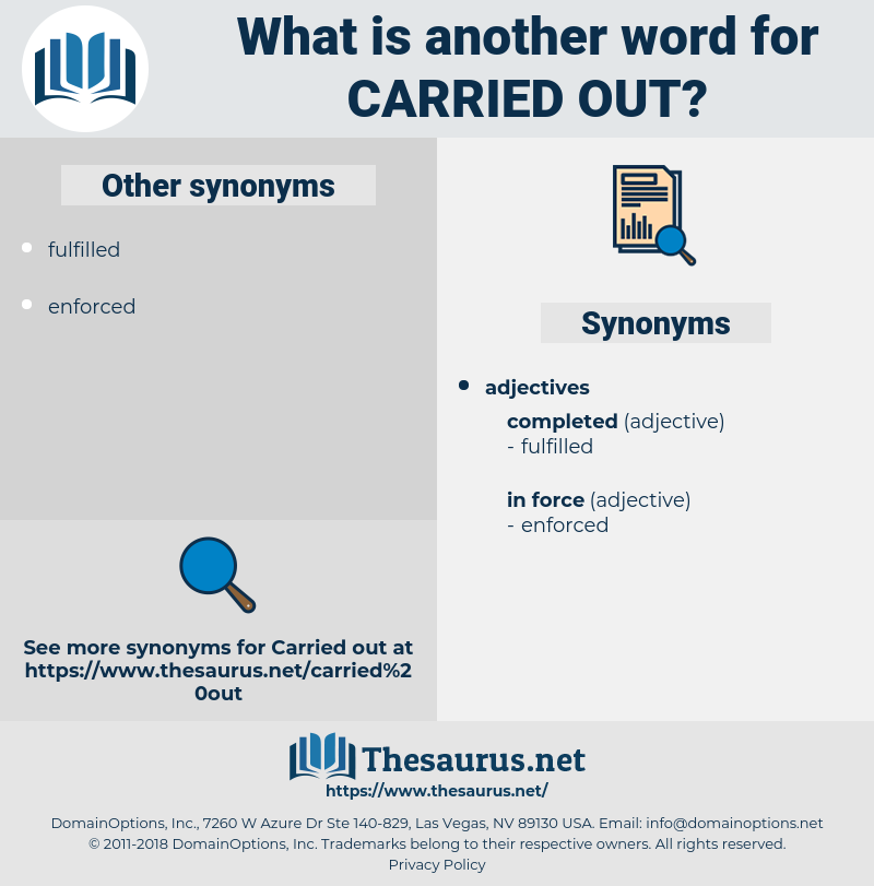 carried out, synonym carried out, another word for carried out, words like carried out, thesaurus carried out
