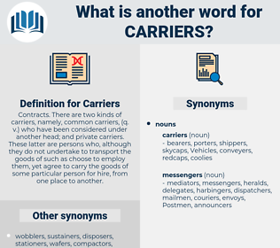 Carriers, synonym Carriers, another word for Carriers, words like Carriers, thesaurus Carriers