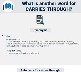 carries through, synonym carries through, another word for carries through, words like carries through, thesaurus carries through