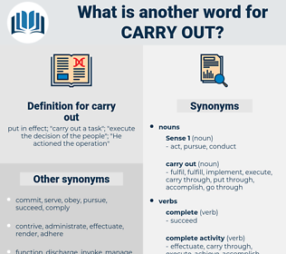 carry out, synonym carry out, another word for carry out, words like carry out, thesaurus carry out