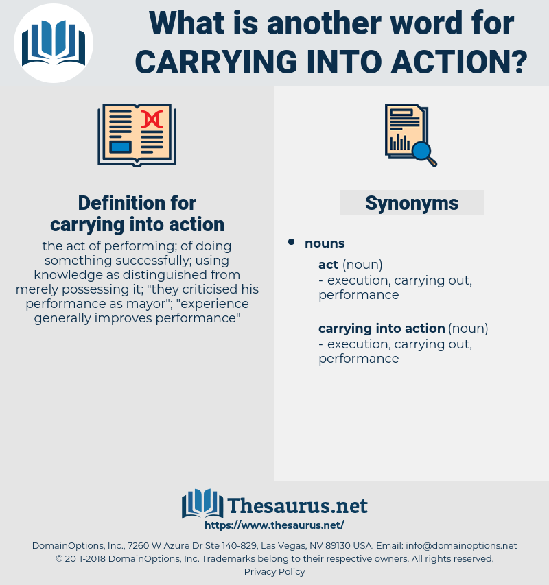 carrying into action, synonym carrying into action, another word for carrying into action, words like carrying into action, thesaurus carrying into action