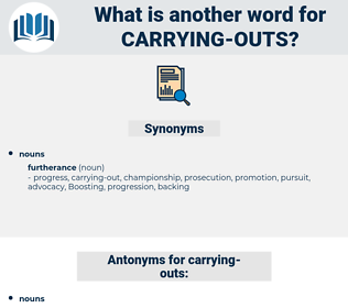 carrying-outs, synonym carrying-outs, another word for carrying-outs, words like carrying-outs, thesaurus carrying-outs