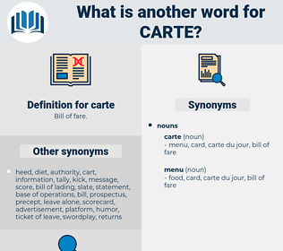 carte, synonym carte, another word for carte, words like carte, thesaurus carte