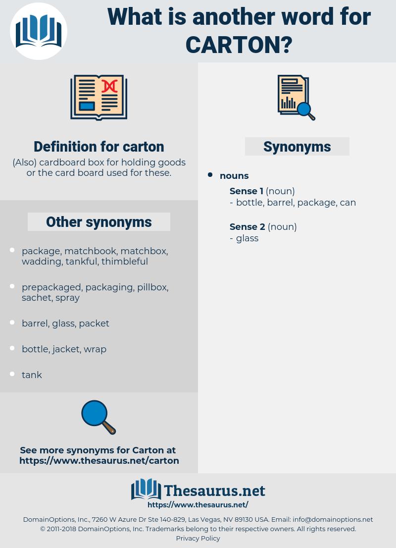carton, synonym carton, another word for carton, words like carton, thesaurus carton