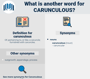 carunculous, synonym carunculous, another word for carunculous, words like carunculous, thesaurus carunculous