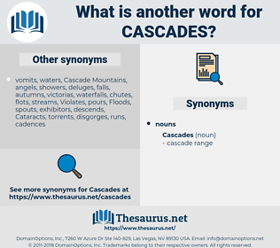 cascades, synonym cascades, another word for cascades, words like cascades, thesaurus cascades