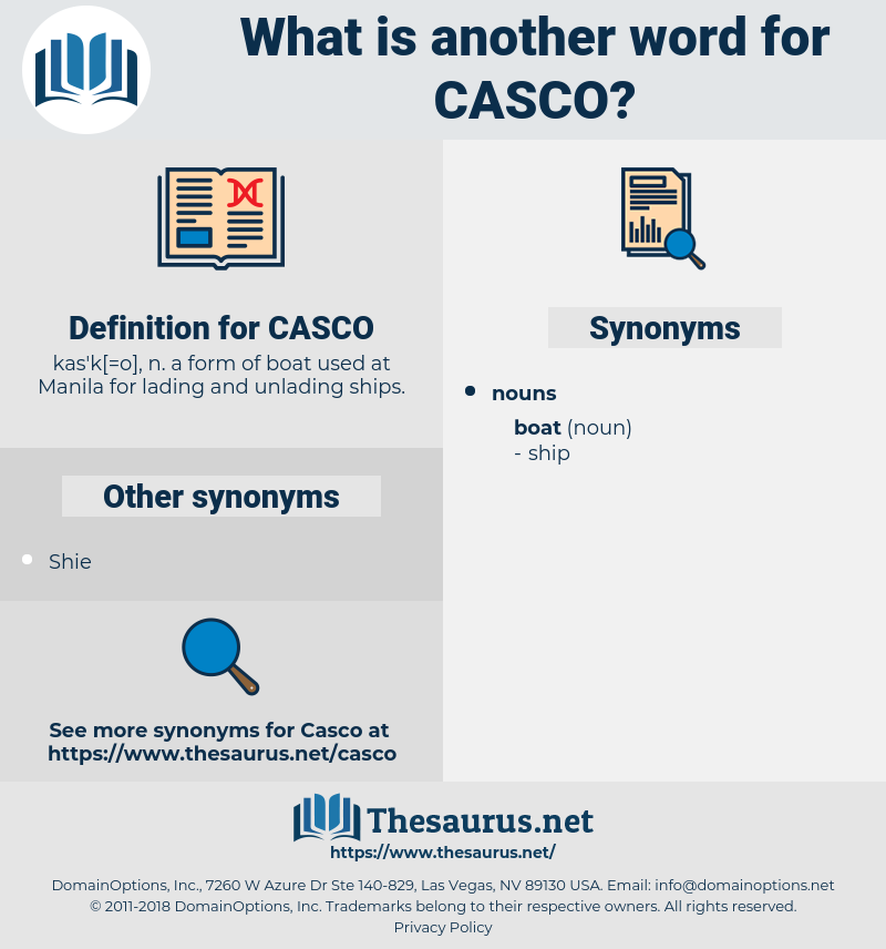 CASCO, synonym CASCO, another word for CASCO, words like CASCO, thesaurus CASCO