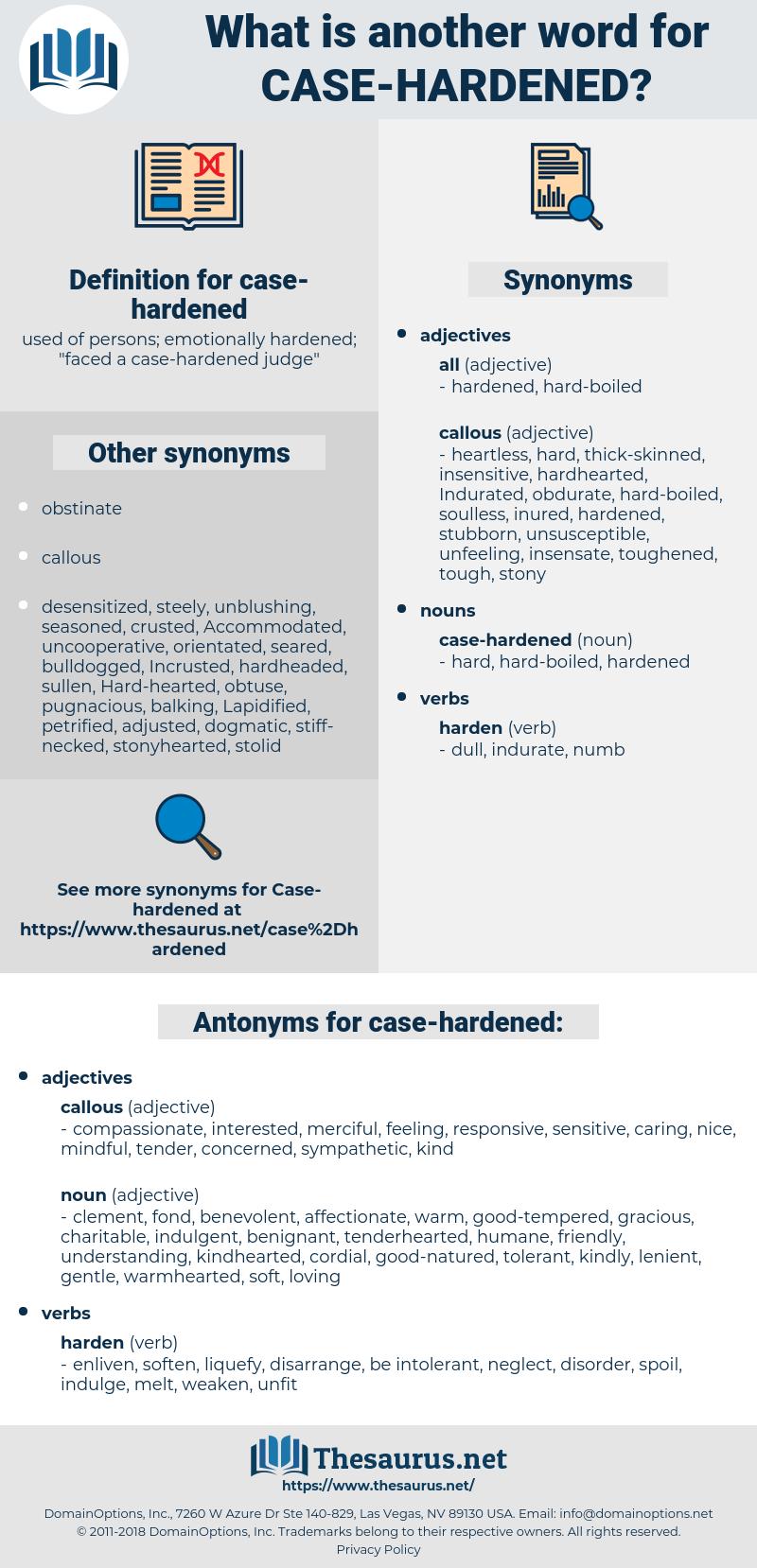 case-hardened, synonym case-hardened, another word for case-hardened, words like case-hardened, thesaurus case-hardened