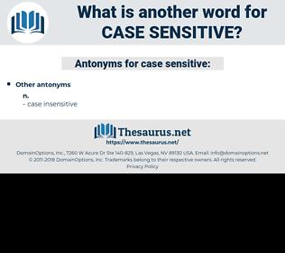case-sensitive, synonym case-sensitive, another word for case-sensitive, words like case-sensitive, thesaurus case-sensitive